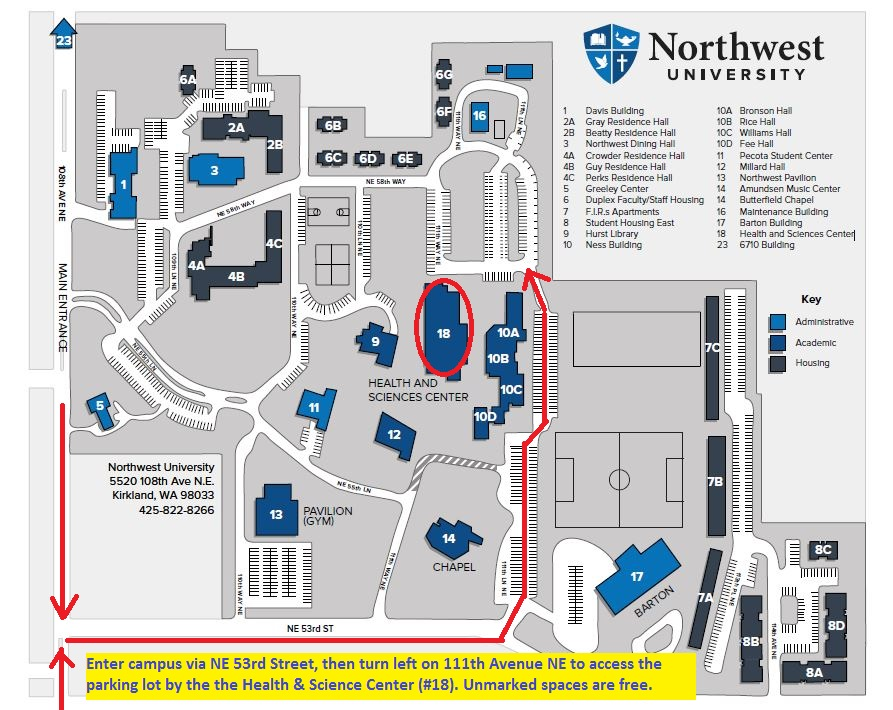 Northwest University Campus Map.Event Details Transitions